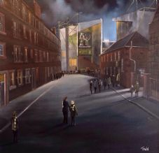Persevered - Easter Road, Hibernian 20'' x 20'' Box Canvas Print